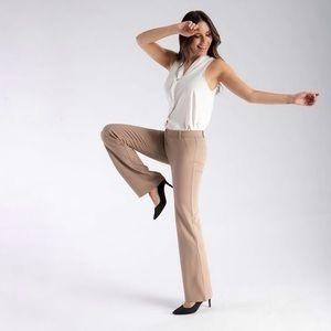 Betabrand Dress Pant Yoga Pants Khaki Twill NWT L